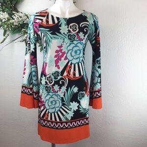 MSK Mod Floral Print Shift Dress
